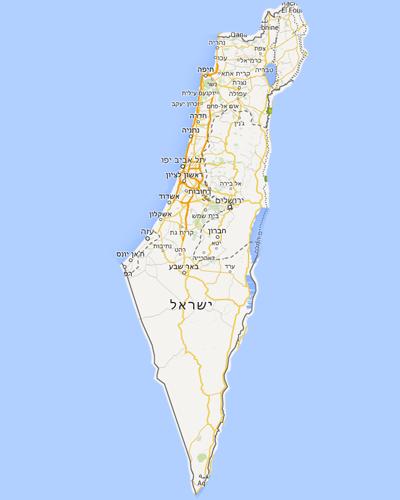 Map Israel